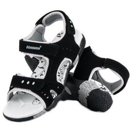 Hasby Sportowe sandały płaskie czarne 2