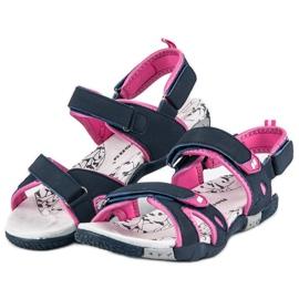 Hasby Damskie sandały na rzepy niebieskie 2