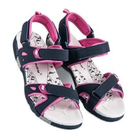 Hasby Damskie sandały na rzepy niebieskie 1
