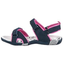 Hasby Damskie sandały na rzepy niebieskie 3