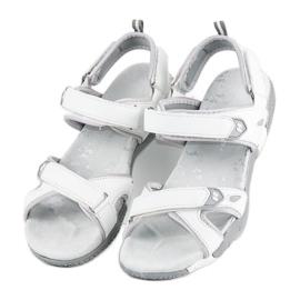 Hasby Damskie sandały na rzepy białe 1