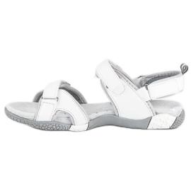 Hasby Damskie sandały na rzepy białe 3
