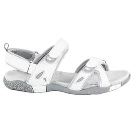 Hasby Damskie sandały na rzepy białe 4