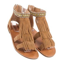 Evento Brązowe Sandały Boho 2