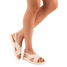 Beżowe sandały meliski beżowy 2