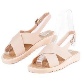 Beżowe sandały meliski beżowy 4