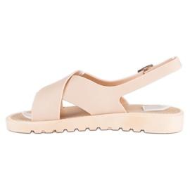 Beżowe sandały meliski beżowy 3