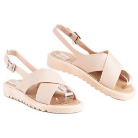 Beżowe sandały meliski beżowy 5
