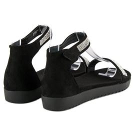 Evento Eleganckie sandały na rzep czarne 6