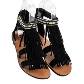 Evento Czarne Sandały Boho 1