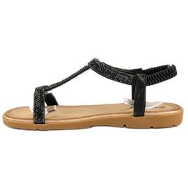 Fama Czarne sandały z gumką 1