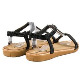 Fama Czarne sandały z gumką 2
