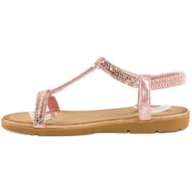 Fama Różowe sandały z gumką 2