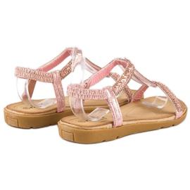 Fama Różowe sandały z gumką 3