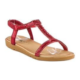 Fama Czerwone Sandały Z Gumką 1