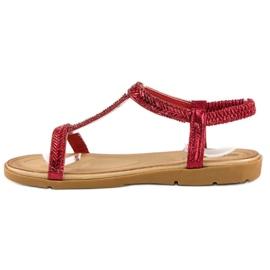 Fama Czerwone Sandały Z Gumką 2