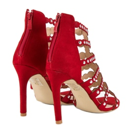 Czerwony sandały na szpilce czerwone 3