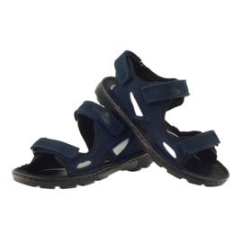 Sandałki elastyczne Ren But 4255 granat szare granatowe 3