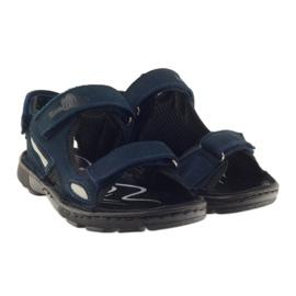 Sandałki elastyczne Ren But 4255 granat szare granatowe 4