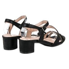 Ideal Shoes Sandały na płaskim obcasie czarne 5