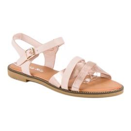 Nio Nio Klasyczne różowe sandały 2