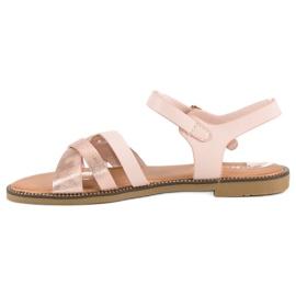 Nio Nio Klasyczne różowe sandały 3