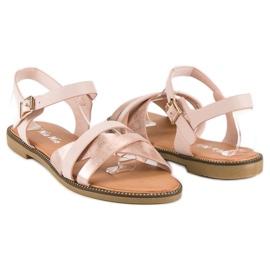 Nio Nio Klasyczne różowe sandały 4