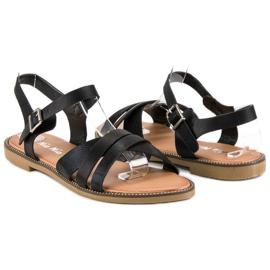 Nio Nio Klasyczne czarne sandały 2