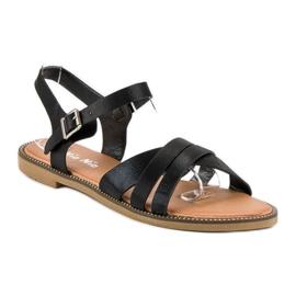 Nio Nio Klasyczne czarne sandały 3