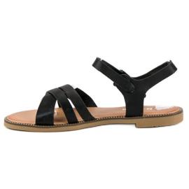 Nio Nio Klasyczne czarne sandały 1