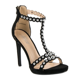 Eleganckie czarne sandałki 3