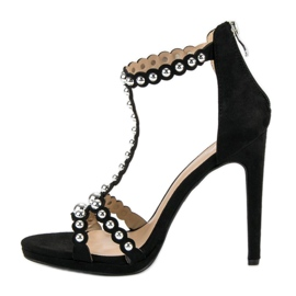 Eleganckie czarne sandałki 4