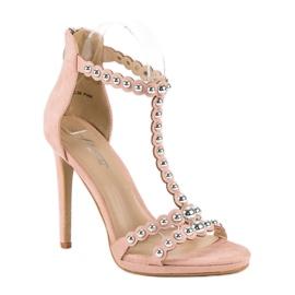 Eleganckie różowe sandałki 2