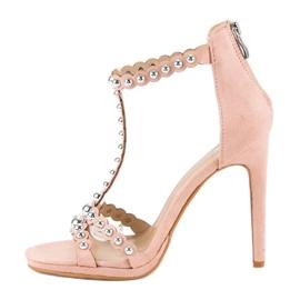 Eleganckie różowe sandałki 3