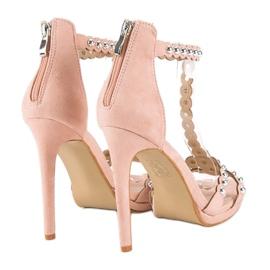 Eleganckie różowe sandałki 4