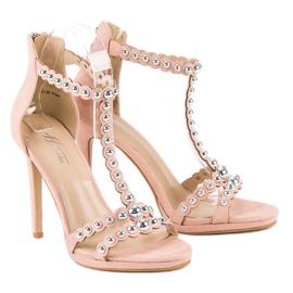 Eleganckie różowe sandałki 5