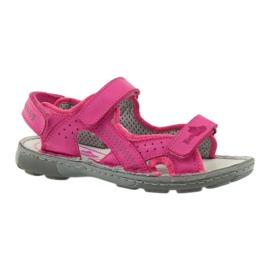 Sandałki elastyczne Ren But 4256 amarant różowe 1