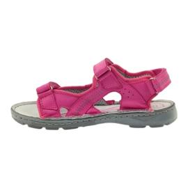 Sandałki elastyczne Ren But 4256 amarant różowe 2