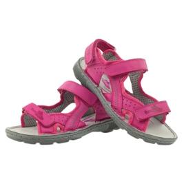 Sandałki elastyczne Ren But 4256 amarant różowe 3