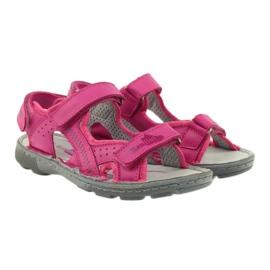 Sandałki elastyczne Ren But 4256 amarant różowe 4
