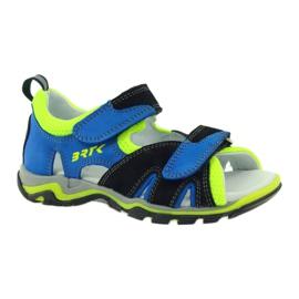 Sandałki Na Rzepy Bartek 16187 kobaltowe 1