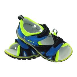 Sandałki Na Rzepy Bartek 16187 kobaltowe 3