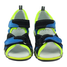 Sandałki Na Rzepy Bartek 16187 kobaltowe 4