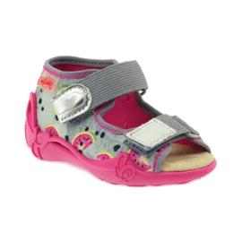 Kapcie sandały na rzepy Befado 242p080 1