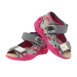 Kapcie sandały na rzepy Befado 242p080 3