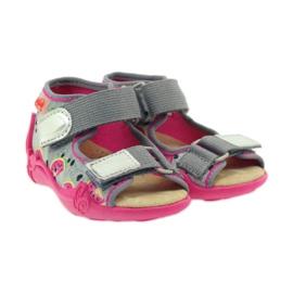 Kapcie sandały na rzepy Befado 242p080 4