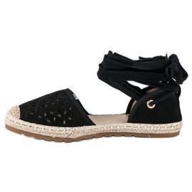 Sweet Shoes Wiązane espadryle czarne 5