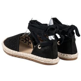Sweet Shoes Wiązane espadryle czarne 7