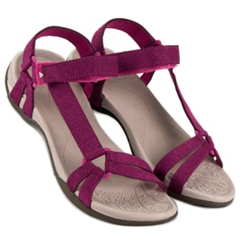American Club Casualowe sandały american różowe 2