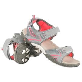 American Club Sportowe sandały american szare 3